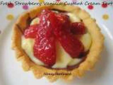 Recipe Fresh Strawberry Vanilla Custard Cream tarts & Happy Easter!