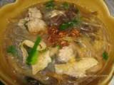 Recipe Vermicelli soup with Chinese ingredients (Kaeng jued woon-sen mou sub)
