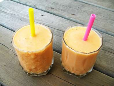 Recipe Delicious peach smoothie