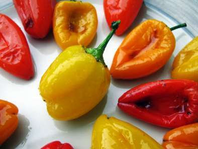 Recipe Oven roasted mini sweet peppers