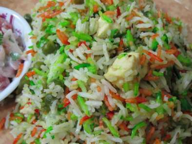 Recipe Tiranga pulao/tricolor rice (indian flag inspired)