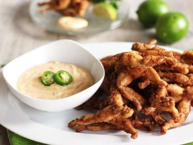 Recipe Light and crispy frogs legs