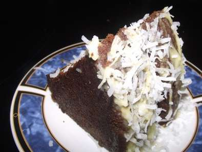 "Recipe Chocolate cake with coconut and rum ""mmm, yum!"""
