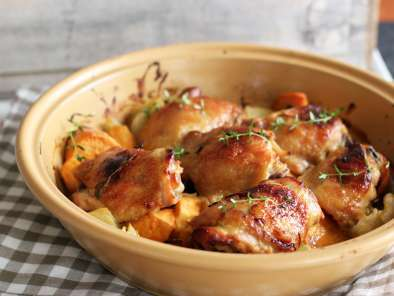 Recipe Honey mustard chicken with sweet potatoes