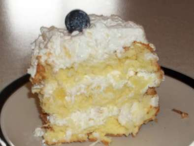 Recipe Triple layer tropical angel food cake