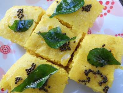 Recipe Nylon khaman (steamed chickpea cake)