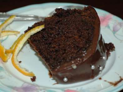 Recipe Orange cake with chocolate ganache