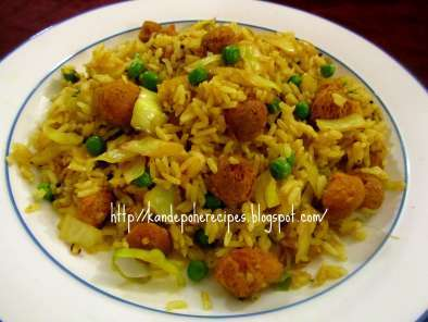 Recipe Cabbage soya chunks fried rice