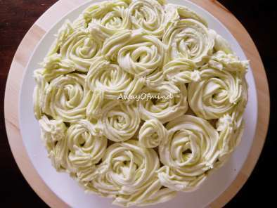 Recipe Chocolate yam cake buttercream roses
