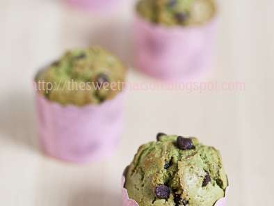 Recipe Green tea chocolate chip muffins