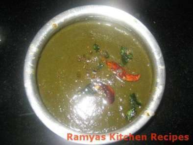 Recipe Keerai / spinach masiyal