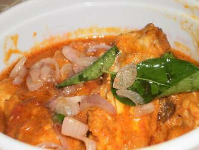 Recipe Chicken baffad curry recipe with coconut milk and roasted spices