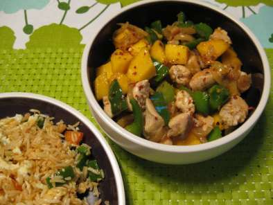 Recipe Mango chicken stirfry