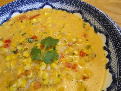 Recipe Corn soup with coriander (visit site!)