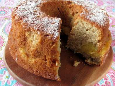 Recipe Apple custard tea cake