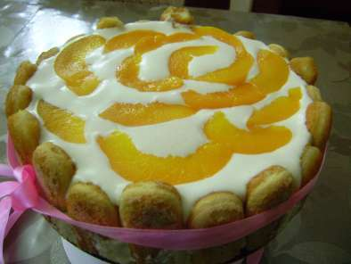 Recipe Peach-bavarian cream charlotte