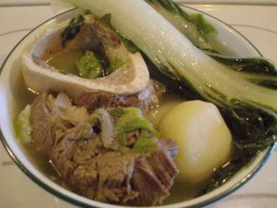 Nilagang baka (boiled beef and vegetables)