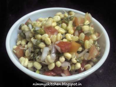 Recipe Sprouted moong salad