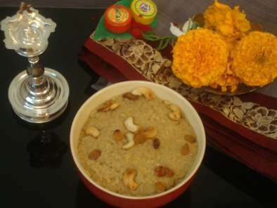 Recipe Sweet / sakkarai pongal (using broken wheat / udaitha godhumai)