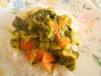 Recipe Kale and spinach coconut curry