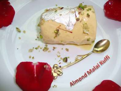 Recipe Almond malai kulfi - my 100th post