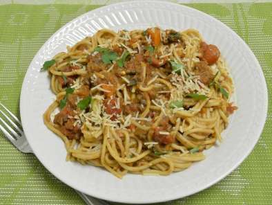 Recipe Spaghetti with mushroom bolognese