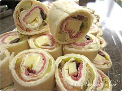 Recipe Antipasto pinwheels