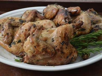 Recipe Grilled cornish hens with herbs