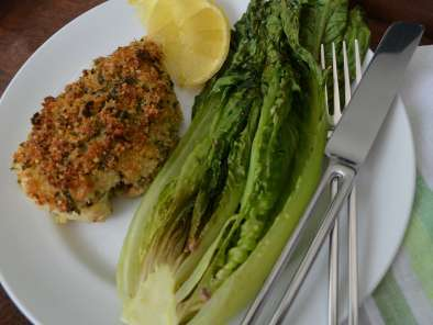 Recipe Parmesan chicken with roasted romaine lettuce