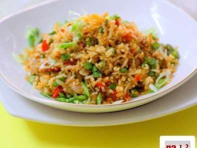 Recipe Nasi goreng belacan ikan bilis (shrimp paste anchovies fried rice)