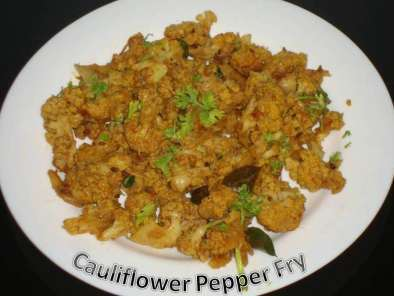 Recipe Cauliflower pepper fry