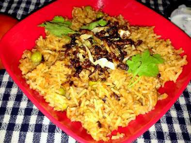 Recipe Tomato rice with fried cabbage