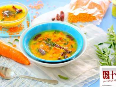 Recipe Masoor dal carrot sambar (indian dal curry)