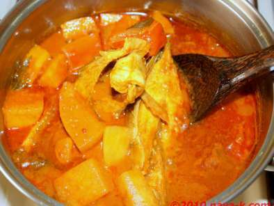 Recipe Fish curry with white radish
