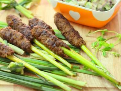 Recipe Lemongrass lamb kebab