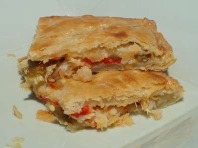 Recipe Cod and bell pepper pie