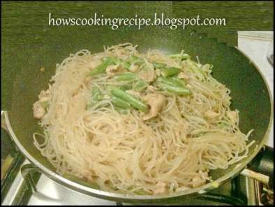 Recipe French beans fry beehoon/ vermicelli