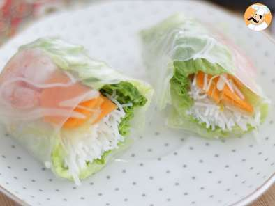 Recipe Fresh spring rolls - video recipe !