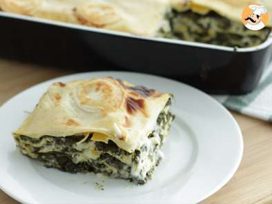 Recipe Spinach and goat cheese lasagna - video recipe !