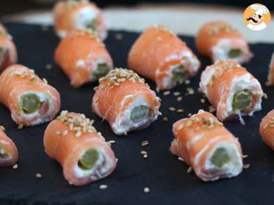 Recipe Salmon rolls with goat cheese - video recipe !