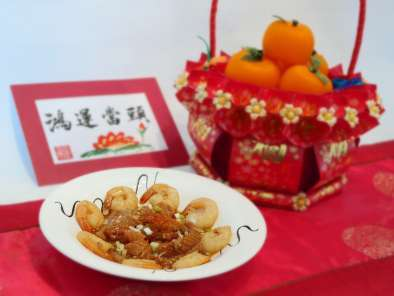 Recipe Chinese new year spicy shrimp floss seafood