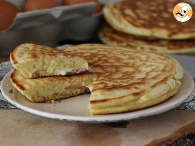 Recipe Croque pancakes with ham&cheese - video recipe!