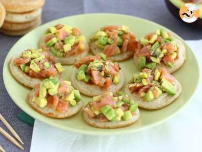 Recipe Avocado and salmon blini appetizer