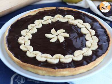 Recipe Chocolate and banana tart