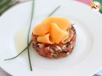 Recipe Prosciutto, tomato and cantaloupe tartare