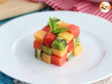 Recipe Fruit rubik's cube, the design fruit salad