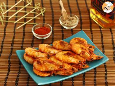 Recipe Shrimp flambé with whiskey