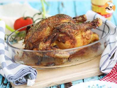 Recipe Roasted chicken with dijon mustard and herbs