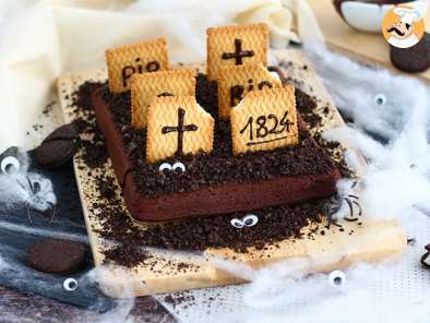 Recipe Graveyard brownies for halloween