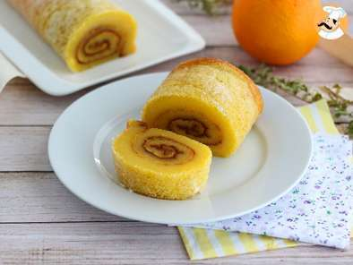 Recipe Orange swiss roll from portugal - torta de laranja